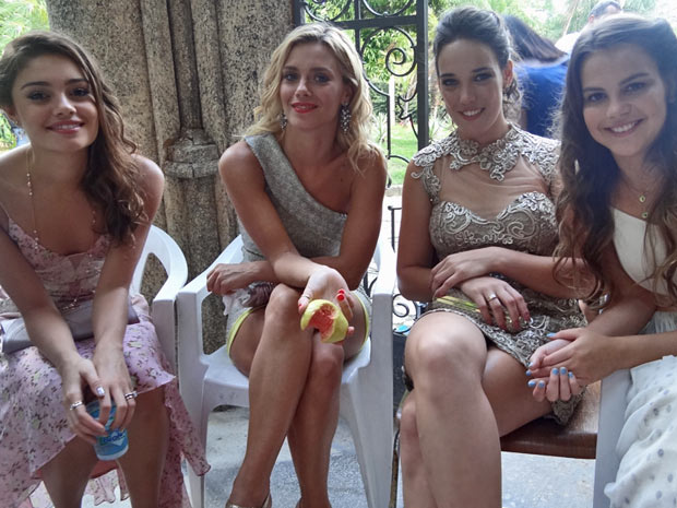 Sophie Charlotte, Carolina Dieckmann, Adriana Birolli e Bianca Salgueiro  (Foto: Fina Estampa/TV Globo)