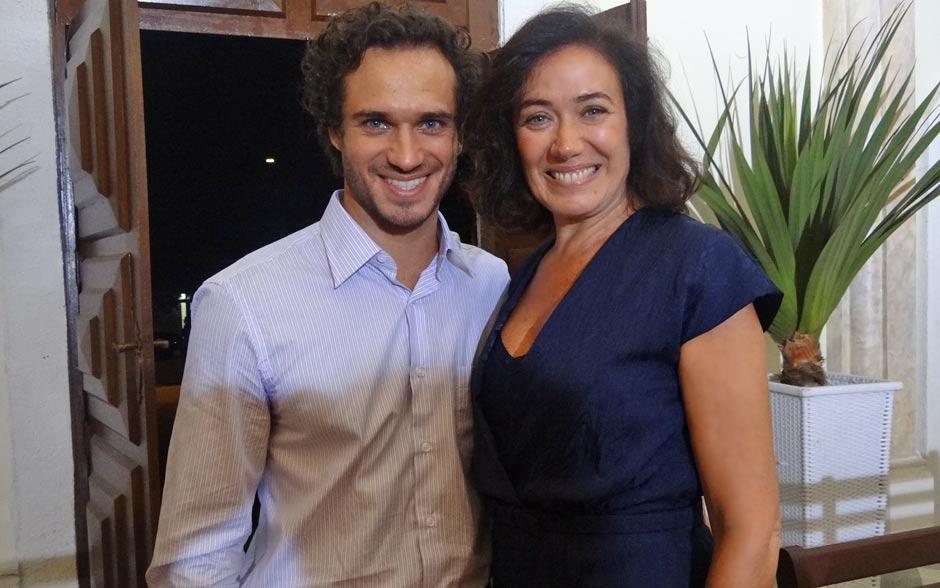 Lilia Cabral celebra os últimos momentos de gravação ao lado de Paulo Rocha