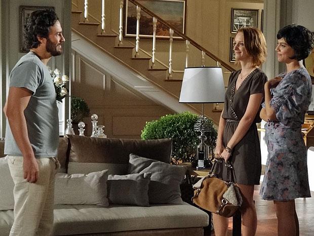 Carlos deixa Priscila impressionada ao conhecê-la (Foto: Amor Eterno Amor/TV Globo)