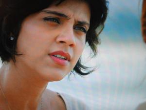 Miriam fala sobre o beijo em Marajó (Foto: Amor Eterno Amor / TV Globo)