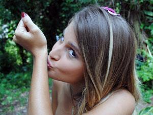 """""""Tenho uma estrela de Davi tatuada, todos os dias antes de sair de casa dou um beijo nela. Dá sorte!"""", revela (Foto: Malhação / TV Globo)"""