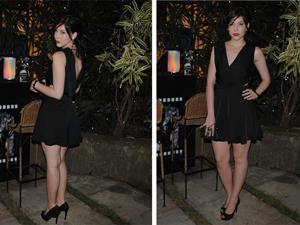 Alexia arrasou com um vestido preto com decote nas costas (Foto: Malhação / Tv Gloobo)
