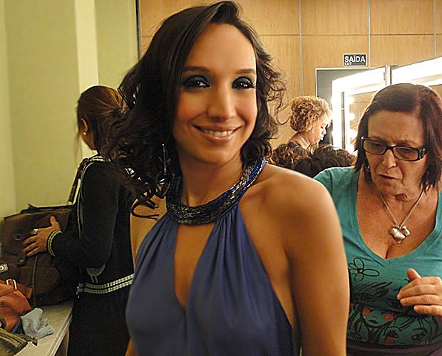 Em um vestido sexy, Maria Maya exibiu maquiagem em tons mais escuros. Quanta personalidade!