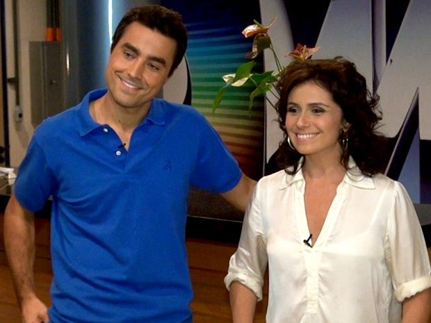 Giovanna Antonelli e Ricardo Pereira se despedem de seus personagens (Foto: Aquele Beijo / TV Globo)