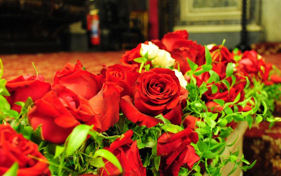 Rosas vermelhas - as preferidas da noiva