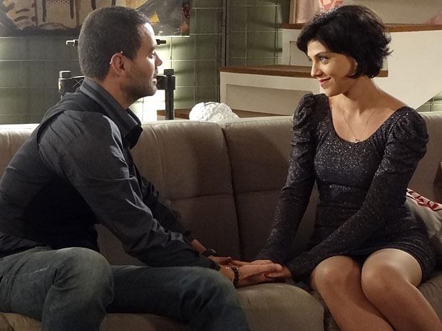 Fernando quer se casar logo com Miriam (Foto: Amor Eterno Amor/TV Globo)