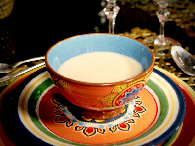 Vichyssoise é um sopa tradicional francesa (Foto: Avenida Brasil/TV Globo)