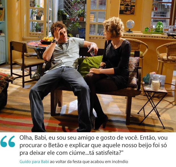 Frases da semana: Guido e Babi conversam na volta da festa (Foto: Malhação / TV Globo)