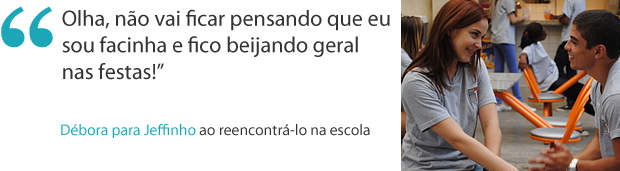Frases da semana: Débora reencontra Jeffinho na escola (Foto: Malhação / TV Globo)