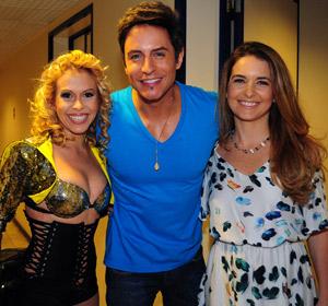 Que bafo! Joelma e Chimbinha, do Calypso, gravam participação (Cheias de charme/ TV Globo)