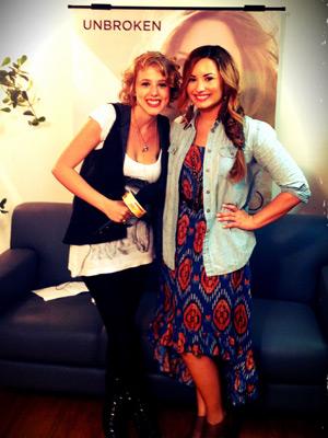 Marcella Rica e Demi Lovato  (Foto: Divulgação / Arquivo pessoal )