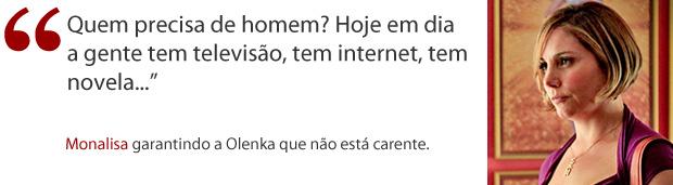 Frase Monalisa (Foto: Avenida Brasil/ TV Globo)
