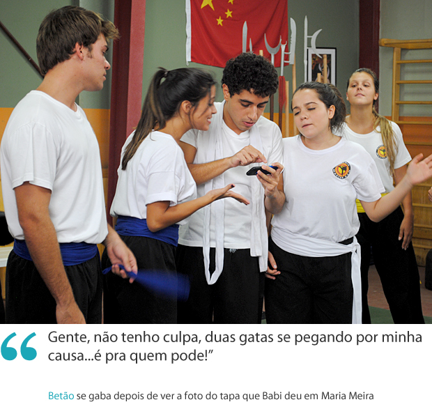 Frases da semana: Betão se gaba da briga entre mulheres (Foto: Malhação / TV Globo)