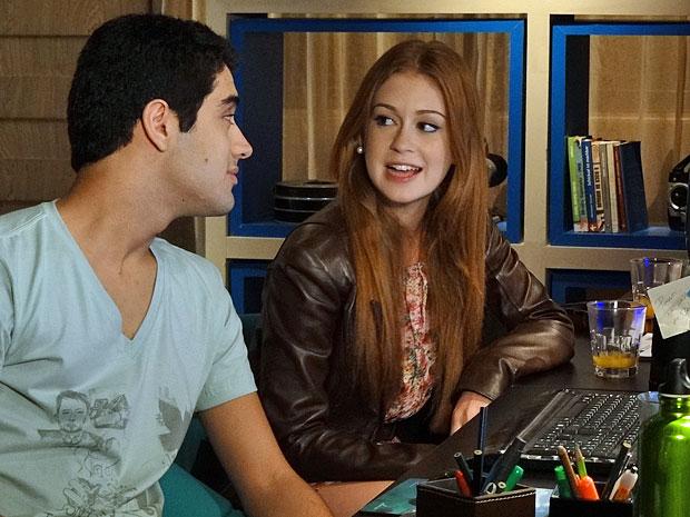 Bruno e Juliana dão ao início a uma parceria de futuro (Foto: Amor Eterno Amor/TV Globo)