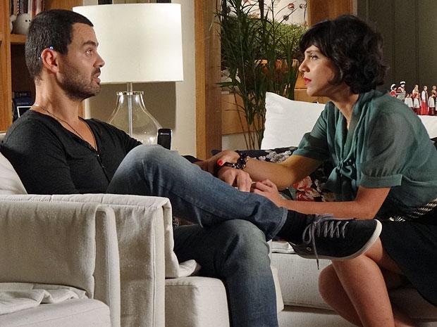 Fernando não quer ter migalhas do amor de Miriam (Foto: Amor Eterno Amor/TV Globo)