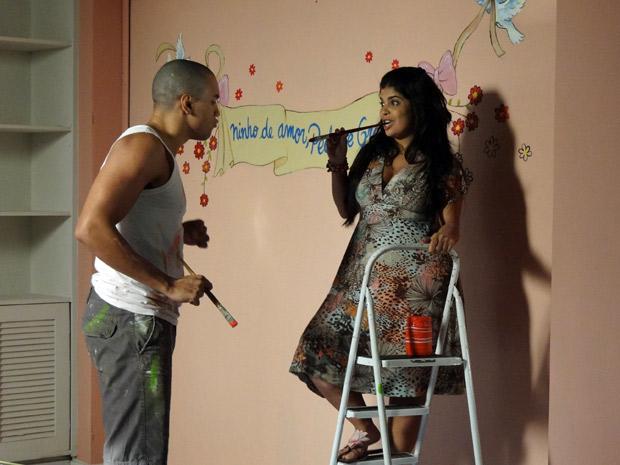 Jair quase se declara para Gracinha (Foto: Amor Eterno Amor / TV Globo)