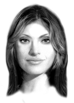 Projeção do rosto de Elisa (Foto: Amor Eterno Amor/TV Globo)