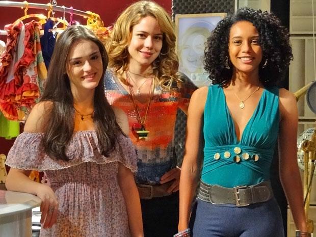 Isabelle Drummond, Leandra Leal e Taís Araújo (Foto: Cheias de Charme/ TV Globo)
