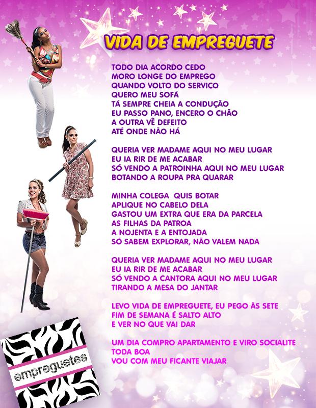 """Letra da música """"Vida de Empreguete"""", nova sensação do trio Cida, Rosário e Penha  (Foto: Cheias de Charme / TV Globo)"""
