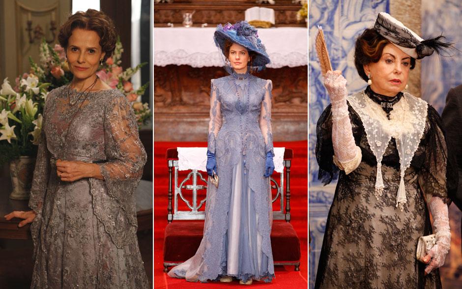 Os tons sóbrios deixam ainda mais elegantes, Bia Seidl, Patrícia Pillar e Beatriz Segall.