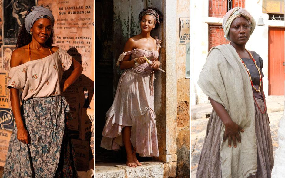Turbantes e colares de contas para as mulheres ainda próximas das origens africanas