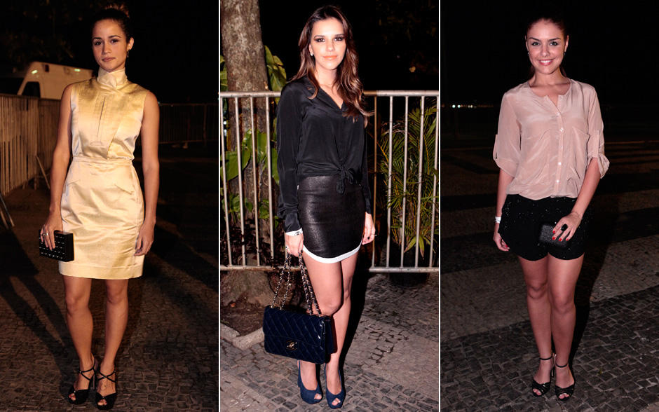 Nanda Costa, Mariana Rios e Paloma Bernardi deixaram as pernas de fora