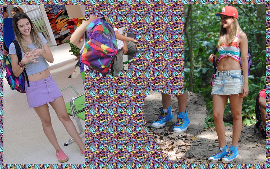 Para tudo! Que tênis maneiríssimo! Megacolorido! A mochila da Fat também é o máximo, né?