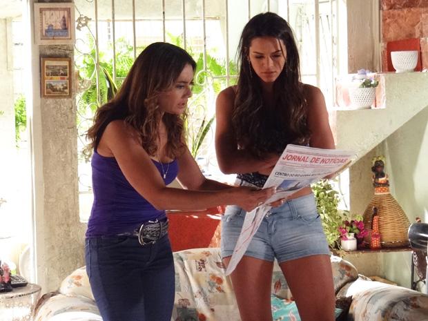 Lurdinha reconhece Santiago no jornal e mostra para Lucimar