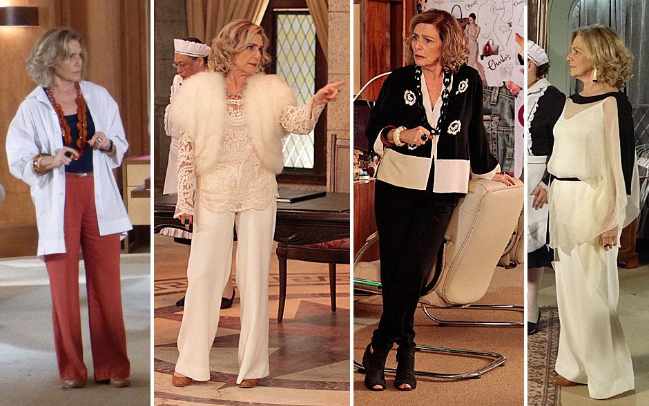 Sempre elegante, Charlô é adepta da combinação calça e camisas fluidas
