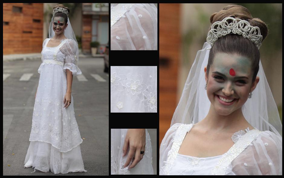 O casamento da Fatinha vai ser muito doido! A gata casa com um vestido supertradicional, emprestado da mãe, mas acaba toda pintada!