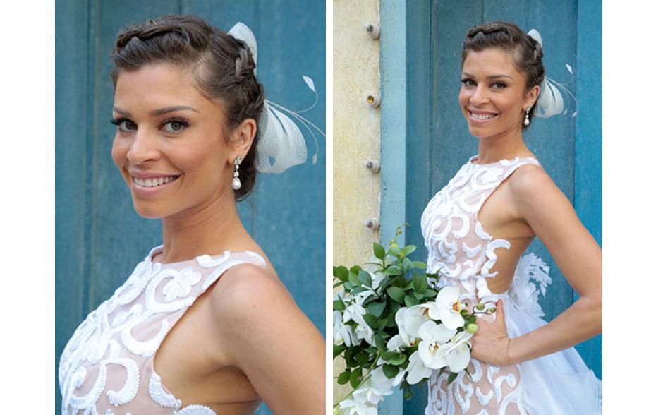 Os detalhes do vestido de noiva de Ester, personagem de Grazi Massafera