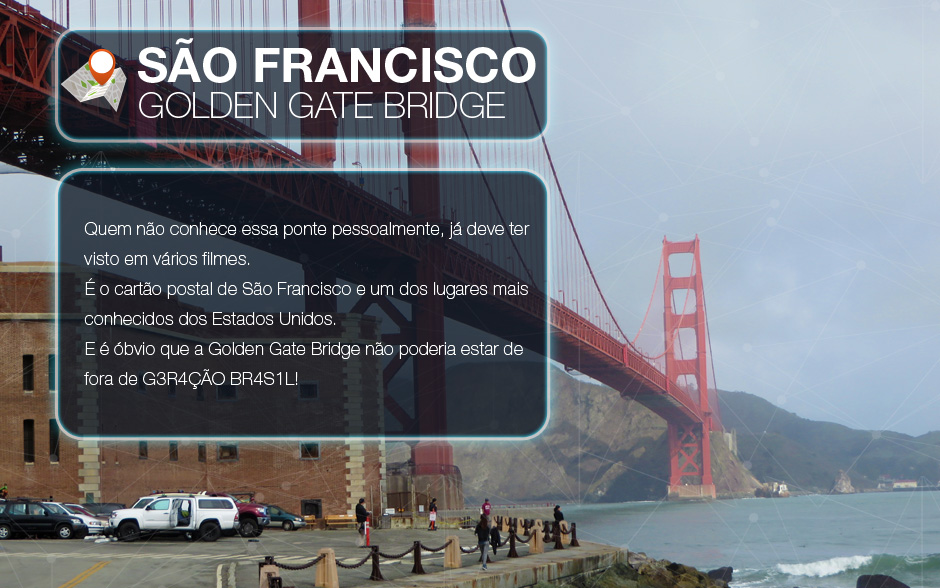 Parada obrigatória em São Francisco: Golden Gate Bridge