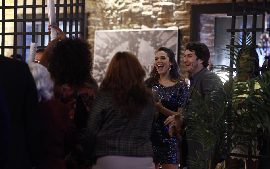 Laerte se surpreendeu ao chegar no Galpão e encontrar uma festa para comemorar seu aniversário