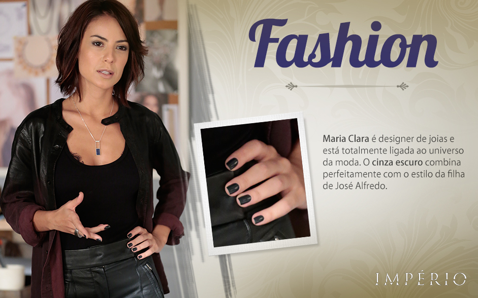 Maria Clara: cinza escuro