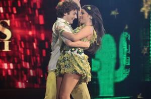 Miguel Roncato e Ana Flávia foram os campeões (Domingão do Faustão / TV Globo)
