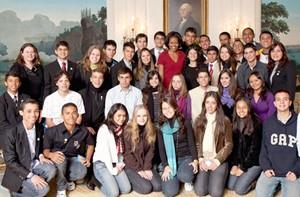 Jovens Embaixadores encontram Michelle Obama nos EUA (Caldeirão do Huck /  TV Globo)