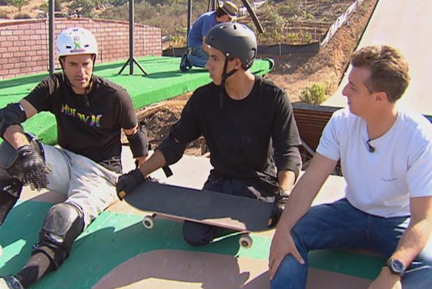 italo, huck e bob na megarrampa (Foto: divulgação/tv globo)