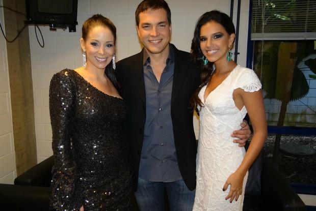 daniel boaventura, danielle winits e mariana rios (Foto: caldeirão/tv globo)