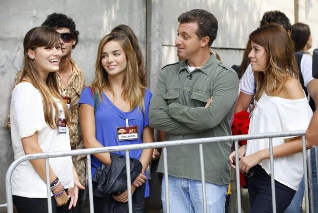 Luciano Huck começa a gravar o 'Concurso de Talentos Malhação' (Foto: Caldeirão do Huck / TV Globo)