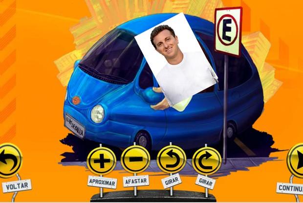 Será que o Huck também é ruim de roda?! (Foto: Caldeirão do Huck/ TV Globo)