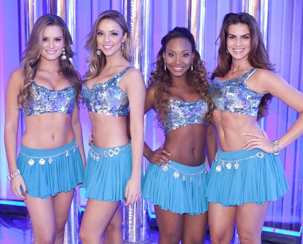 Lauren, Karen, Renata e Luana (Foto: Caldeirão do Huck/ TV Globo)