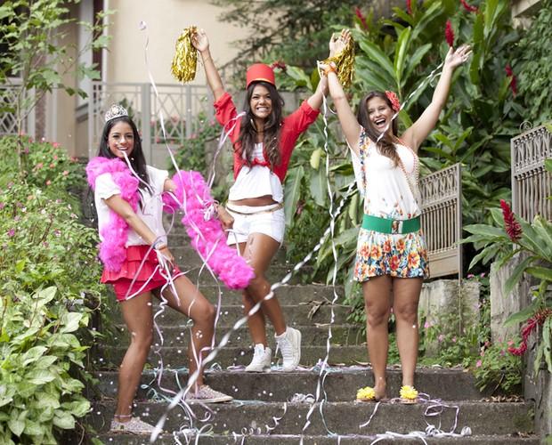 Bailarinas dão dicas de como se vestir para os blocos no Carnaval (Foto: Domingão do Faustão / TV Globo)