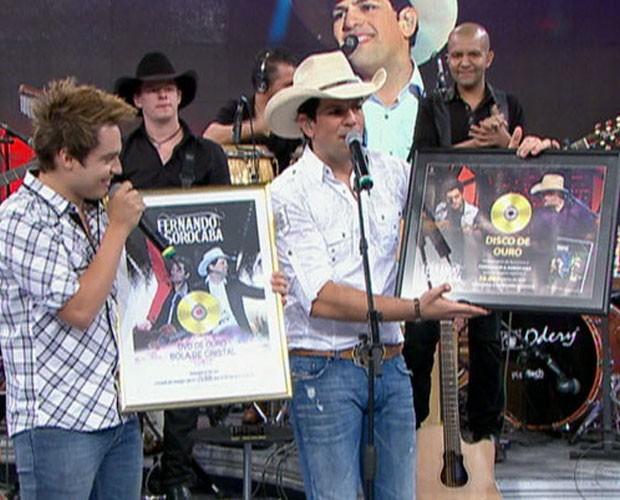 Fernando e Sorocaba (Foto: Domingão do Faustão /  TV Globo)