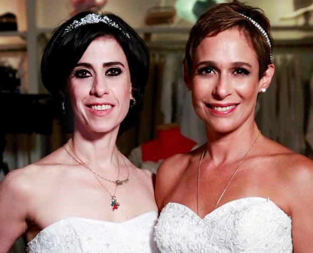 Andrea Beltrão e Fernanda Torres são indicadas na categoria comédia por Fátima e Sueli, de Tapas e Beijos (Foto: TV Globo / Matheus Cabral)