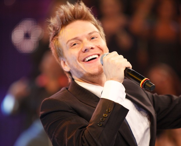 Michel Teló (Foto: TV Globo / Domingão do Faustão)