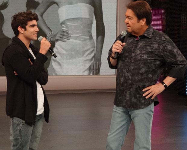 Caio Castro (Foto: Domingão do Faustão / TV Globo)