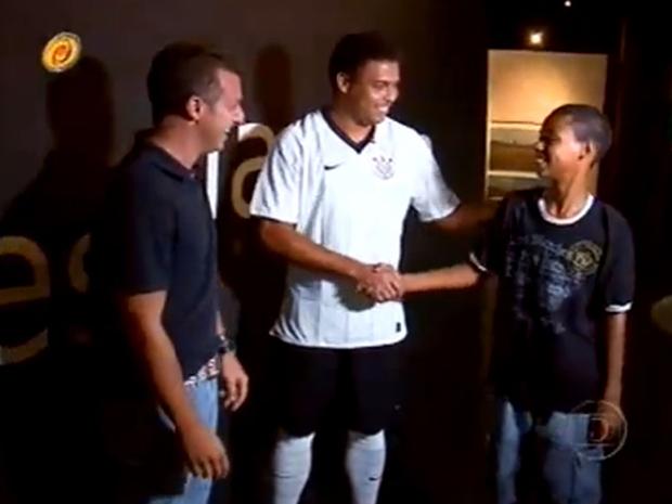 Ronaldo no Peneira (Foto: Caldeirão do Huck /  TV Globo)