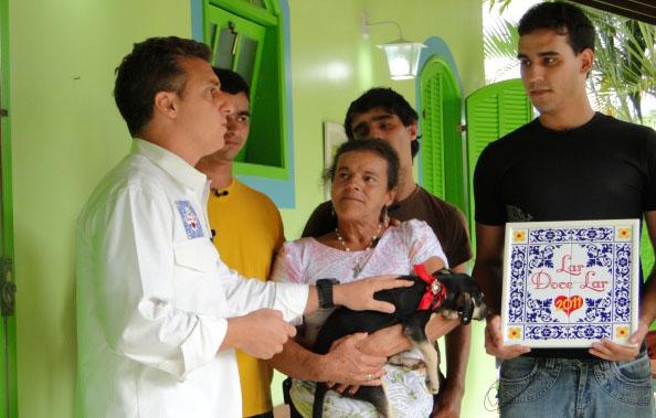 Lar Doce Lar, Dona Ilair (Foto: Dona Ilair, da Região Serrana do Rio, ganhou uma nova casa no Lar Doce Lar)