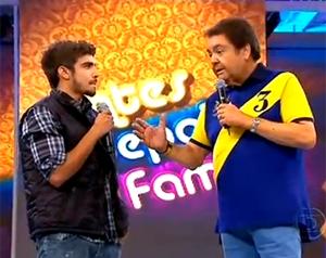 Caio Castro no Antes e Depois da Fama (Foto: Domingão do Faustão / TV Globo)