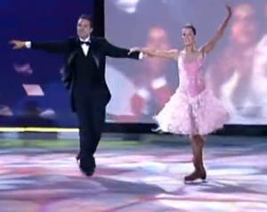 Deborah Secco na Dança no Gelo (Foto: Domingão do Faustão / TV Globo)